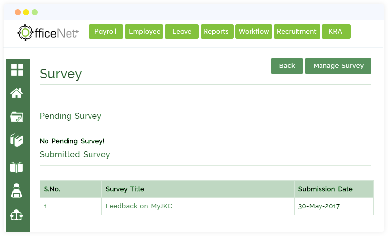 Officenet Hr Software survey